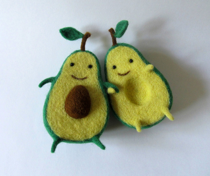 #avocado #love #toy #sculpture #hug #cute
