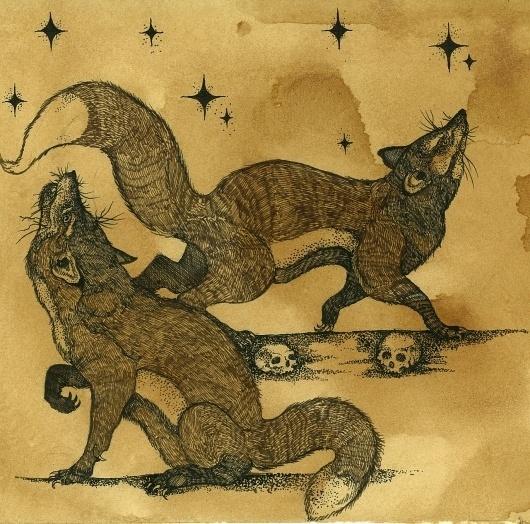 tumblr_lxgjc3QVlR1qcolt7o1_1280.jpg (1280×1267) #wolves #illustration #pen