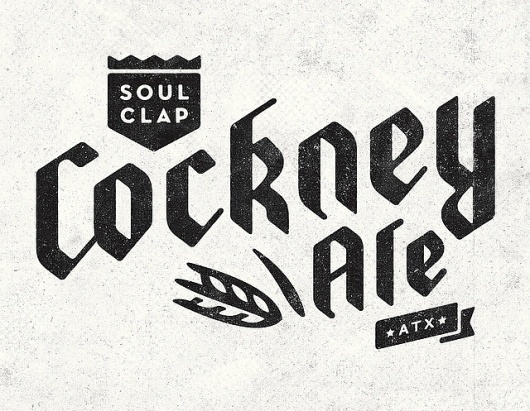 Cockney Ale logo | Flickr - Photo Sharing! #lettering #branding #identity #logo #typography
