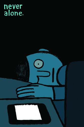 Creative Review Jean Jullien says, Allo? #illustration #phone #sleep