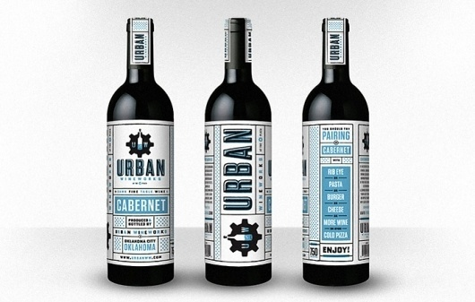Urban Wine Works - The Dieline: The World's #1 Package Design Website -