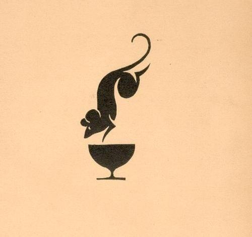 15 Recepta bibofilska. Kraków, 1934 (Society of... - Designers Go To Heaven #mark #mouse #geometric #illustration #cup