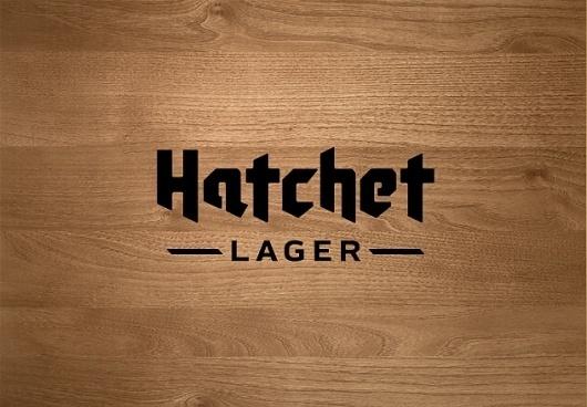 JenniferHicks.ca - Hatchet Lager #hatchet #logo #wood
