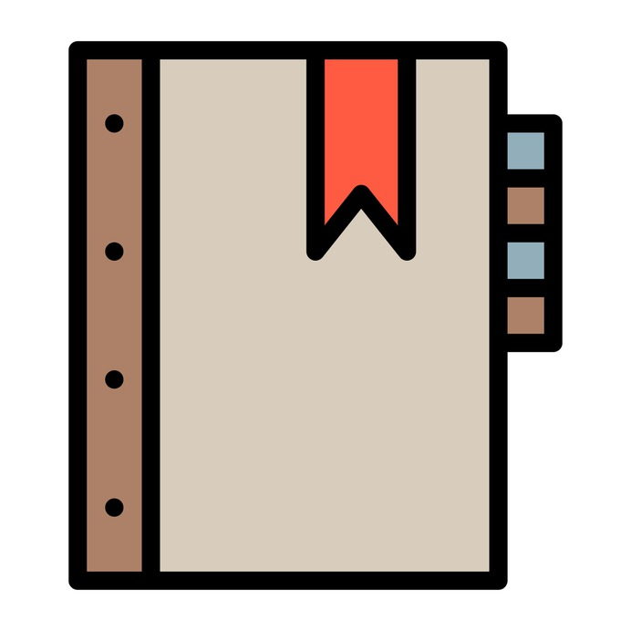 See more icon inspiration related to book, agenda, bookmark, notebook, address book, business and contacts on Flaticon.