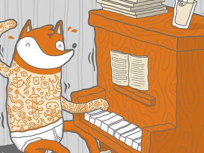 mr #fox on piano