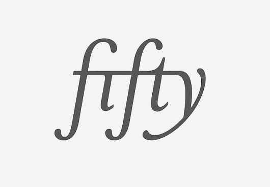 Fifty | Flickr - Photo Sharing! #serif #ligature #typography