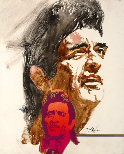 Johnny Cash - original TV Guide cover painting by Bob Peak