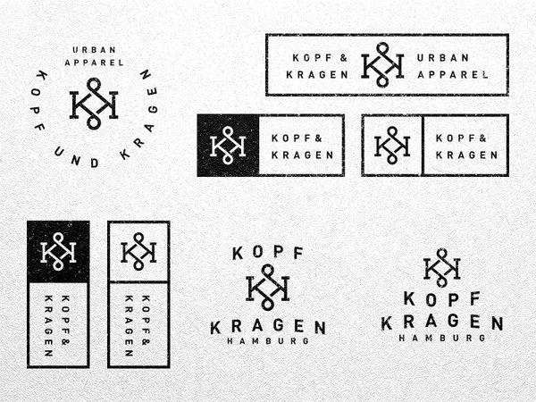 Kopf und Kragen #logotype