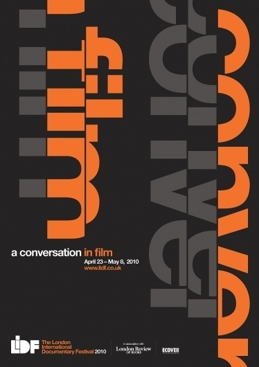 Creative Review - LIDF graphics by Up Creatives #conversation #print #poster #film #typography
