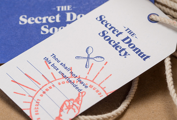 The Secret Donut Society by Ceci Peralta and José Velázquez #graphic design #print #photography #label