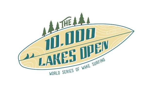 The 10,000 Lakes Open Steve Mino Design #wake #surfing #design #logo #mn