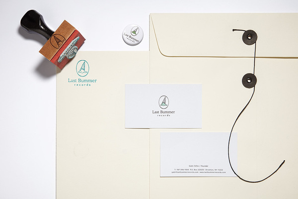 Last Bummer Records Stationery #branding #icon #hightide #hightidedesign #identity #hightidecreative #stationery