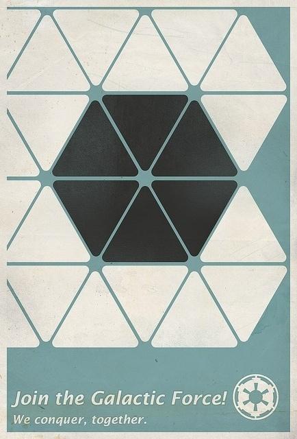 Imperial Propaganda Poster - Star Wars | Flickr - Photo Sharing! #propaganda #minimal #poster #triangles