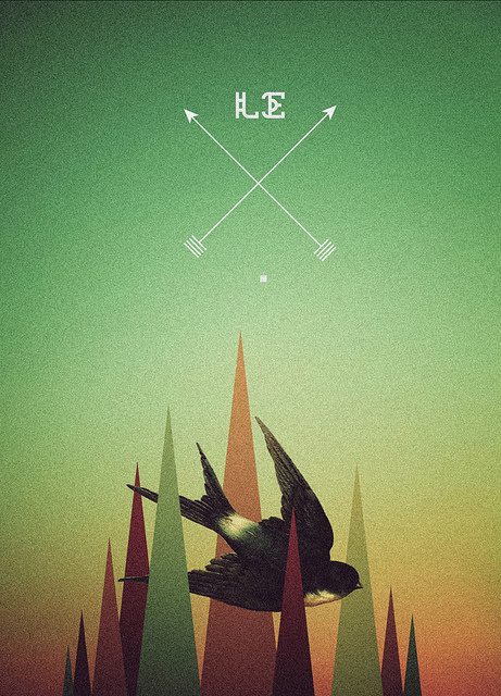 bird. #geometry #branding #hipster #retro #geometric #bird #vintage #poster #logo #pallete
