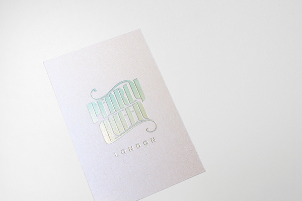 Pearly Queen London on Behance #logotype #holographic #branding #business #card #typography #swimwear #identity #stationery #passport #foil #neon