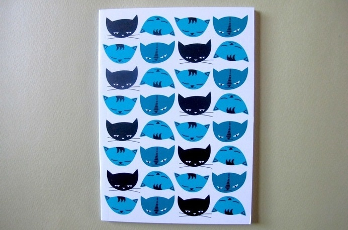 Image of Little Cat Notebook #notebook #cats #pattern