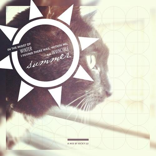 http://longhairandmustacheclub.tumblr.com/ #album #design #graphic #cat #cover #summer