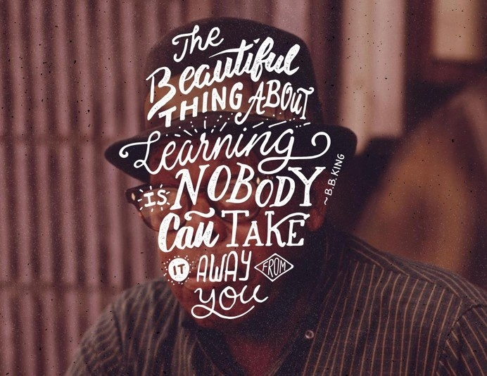 Learning Hand Lettering by Ian Barnard #typography #hand lettering #type #quote #portrait