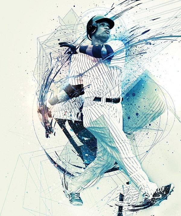 ESPN Magazine 'MLB Preview' NOPATTERN / Chuck Anderson: Art, design, #print #posters