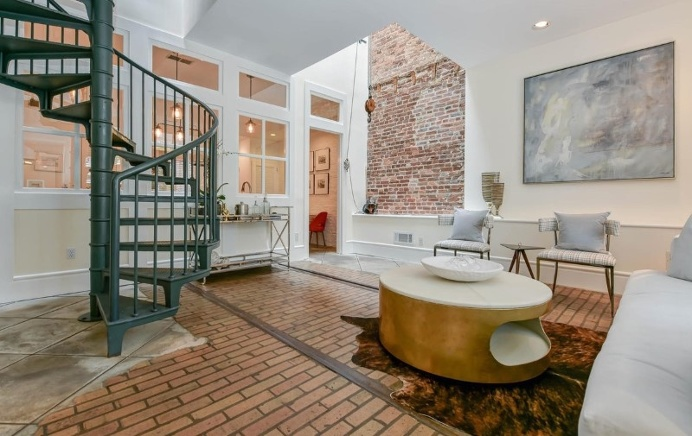 Renovated 1850s firehouse with preserving the original architectural elements