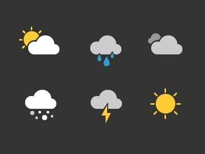 Weather_glyphs #weather #icons