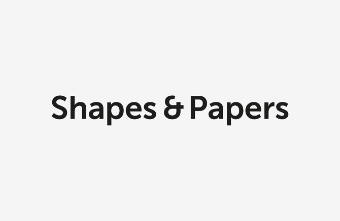 logotype for Shapes & Papers stationary brand