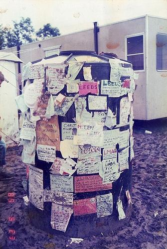Glastonbury Festival Notice Board david rownia/glastonbury #david #rownia #glastonbury