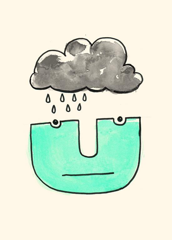 Wolken Mann leciel #illustration