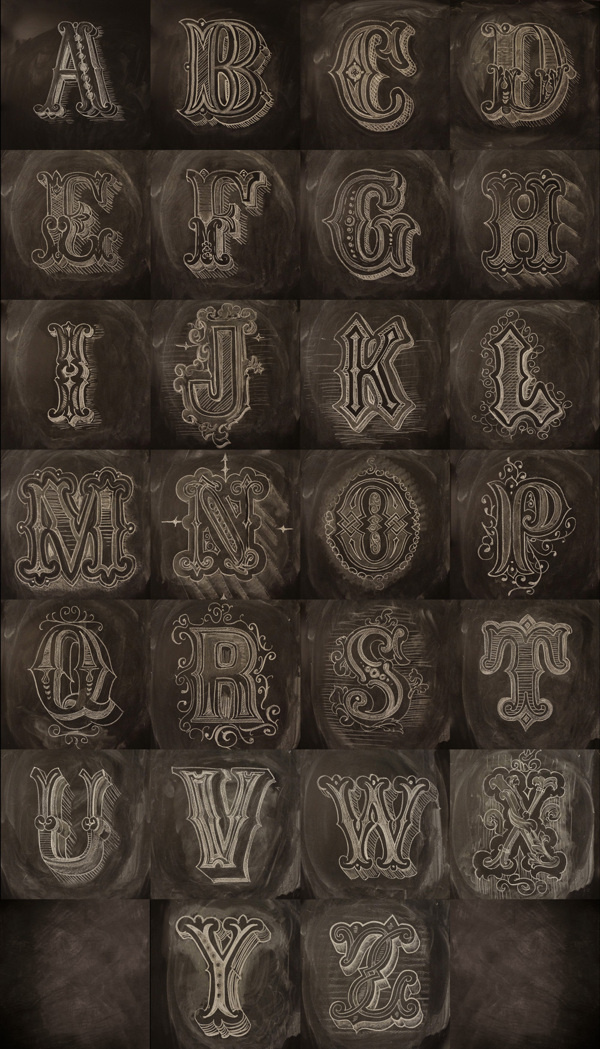 Chalk Alphabet #type #graphic #calligraphy