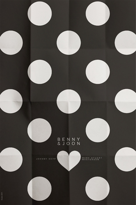 Benny & Joon #heart #movie #circles #minimalism #dots #shape #poster