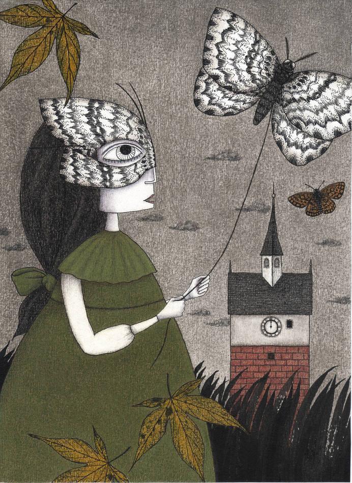 Judith Clay illustration #illustration #paper