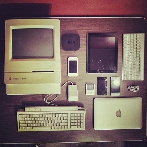 Apple Products Organized Neatly [Reader Gallery] | Cult of Mac #apple #ipad #classic #design #iphone #macintosh #mac