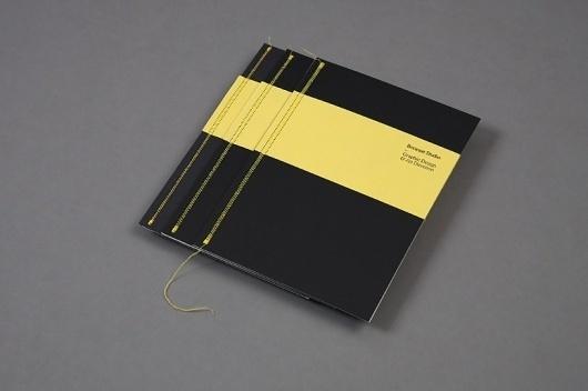 Because Studio — Design & Art Direction/Folio 01 / Bench.li #binding #because #tear #print #yellow #black #studio #sew #brochure
