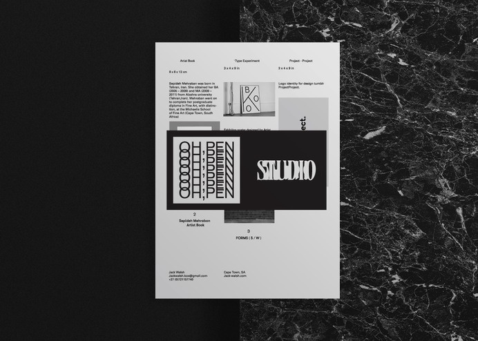 Overview - Jack Walsh #portfolio #design #jackwalsh #graphic #book #print #publication #concept #identity #layout #editorial #typography