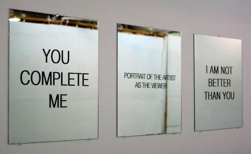 this isn't happiness™ (Mirror Mirror), Peteski #mirror #art #typography