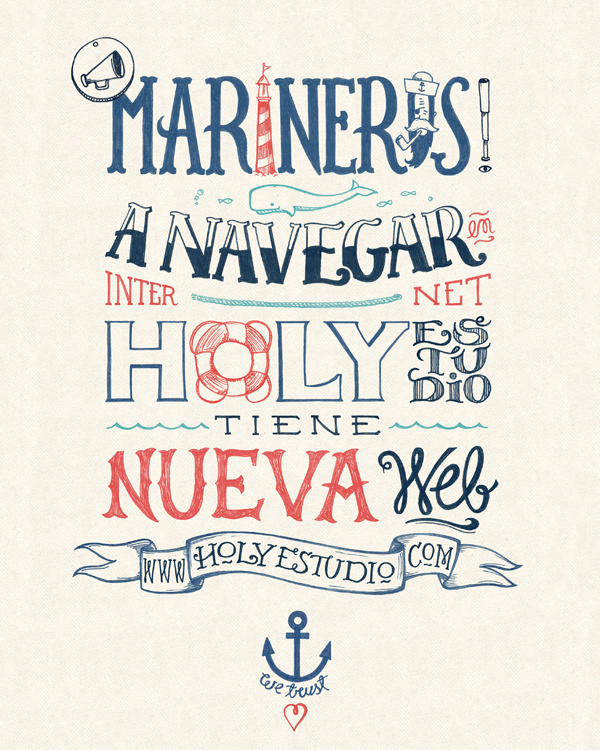 Marineros! on Behance #marinero #sailor #ballena #sail #marino #ancla #sea #navy #anchor #mar #wale #capitan