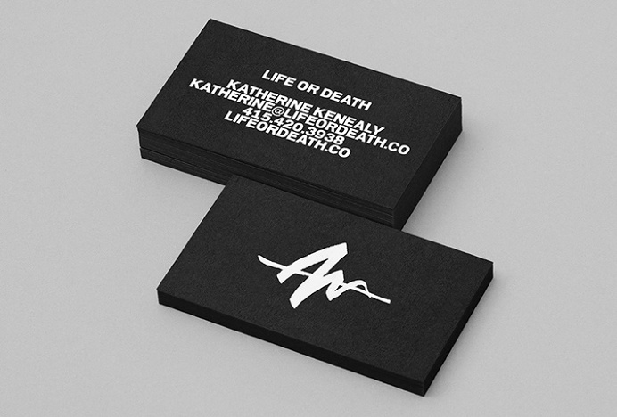 Life Or Death by DIA #print #graphic design #business cards