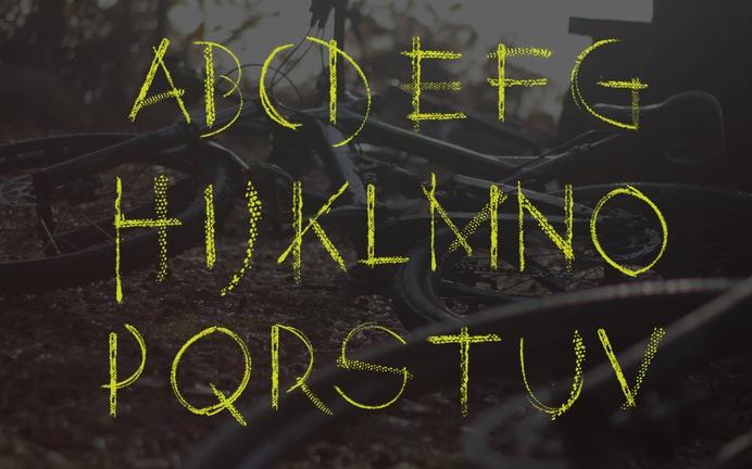 Ridden font alphabet type