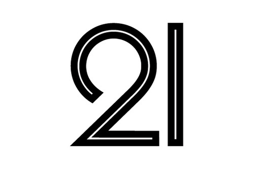 21 #numbers #outline #black #typography