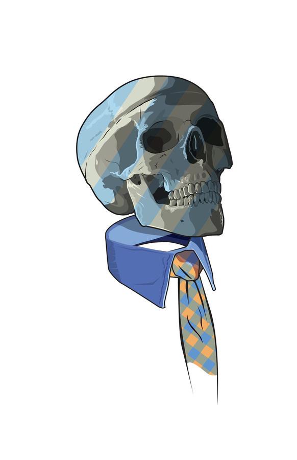 Jam 250 Feature Designer: Matt Fontaine #collar #vector #illustration #blue #skull