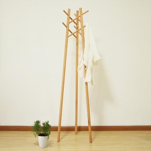 作品 - 木智工坊 #furniture #rack #coat