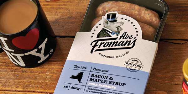Abe Froman's SausageThe Dieline #packaging #pig #sausages #york #new