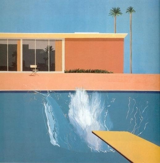 Daily Serving » Hockney_A_Bigger_Splash #hockney #bigger #painting #art #splash #david