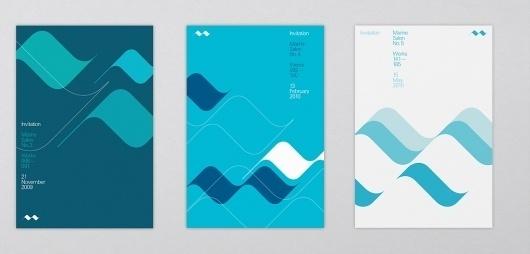 October   Work #print #design #graphic #october #wave #blue