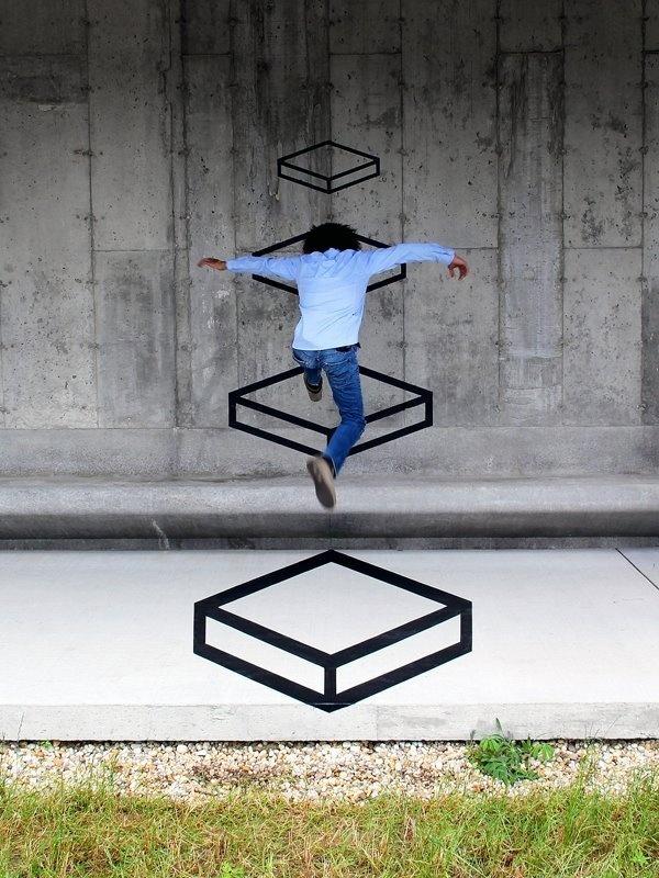 unurth | street art #geometry #jump #art #street