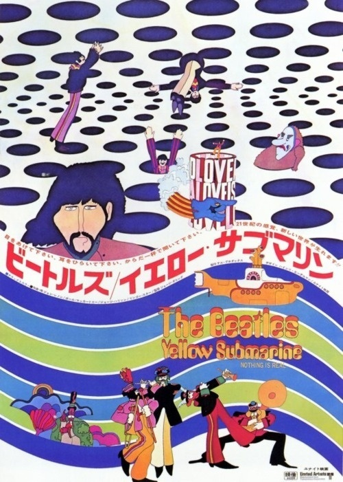 Yellow SubmarineJapanese (?) poster. #beatles #japanese #poster #the