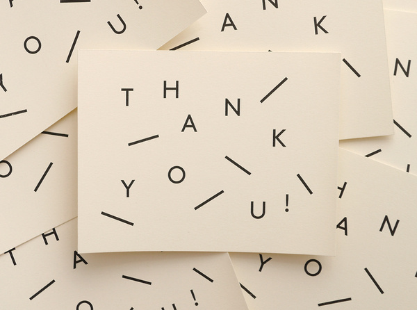 Thank you Cards #type #card #stationary #typography