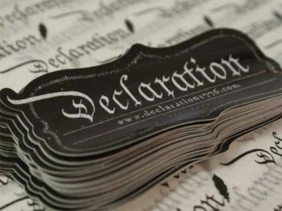 Dribbble - Declaration Sticker by Jeff Finley #blackletter #lettering