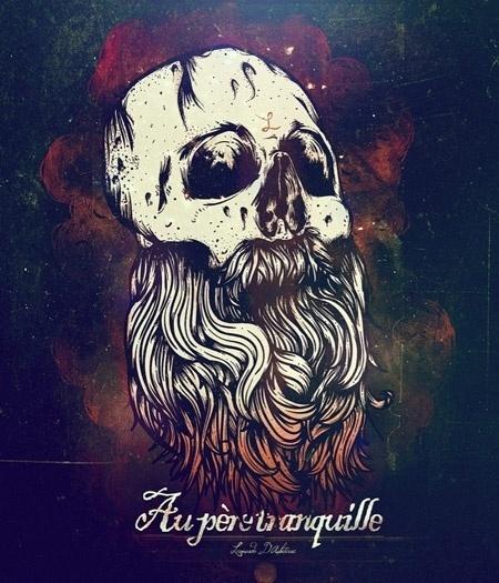 Art & Design Inspiration Fix for October 28th 2011 #illustration #beard #skull