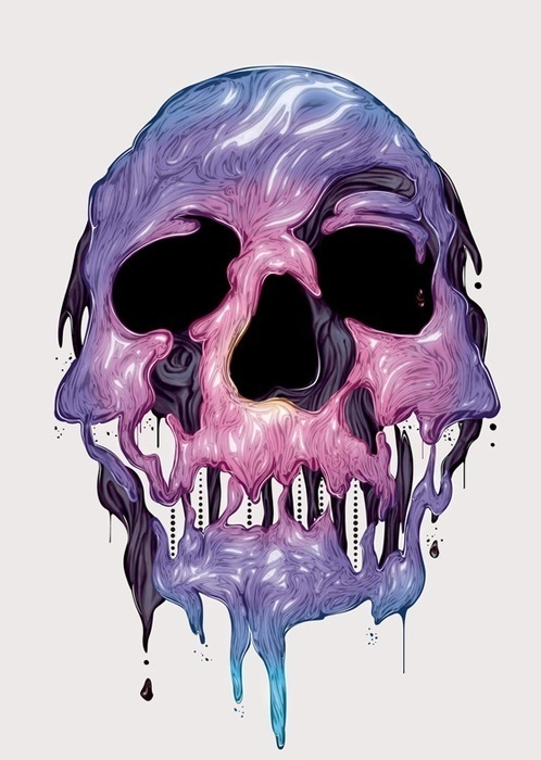 YOUR DAILY DOSE OF CREATIVITY! | by Faraz Ghori #illustration #design #skull
